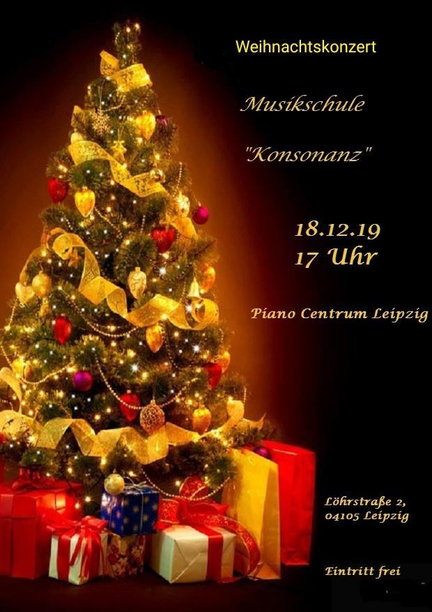 Plakat zum Weihnachtskonzert